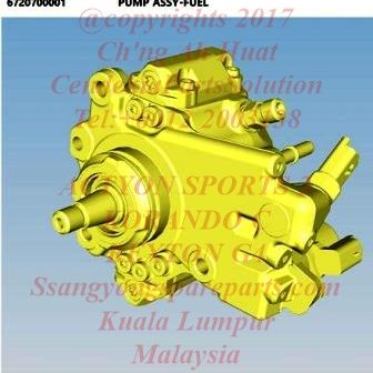 6720700001 Pump Fuel High Pressure Korando C Actyon Sports 2 Rexton G4 D22F
