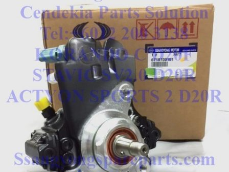 6710700101 Fuel Pump High Pressure Stavic 2.0 Korando C Actyon Sports 2