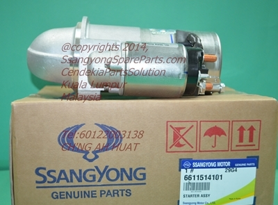 6611514101 6611513701 Starter Motor Stavic Kyron Actyon Sports DelcoRemy Made