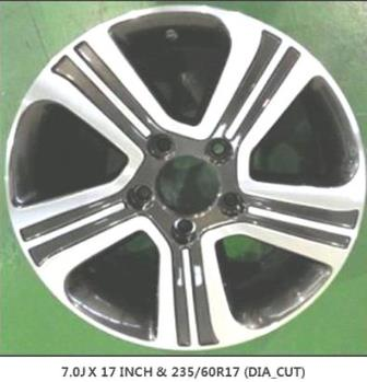 "7.0J-17"" DIAMOND CUT 235-60R17"