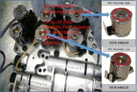 0578-640125 Solenoid Assy 3 Variable Bleed NL Kyron Actyon Sports 2 Korando C Actyon Sports 1 M78 M11 6Speed Transmission DSI