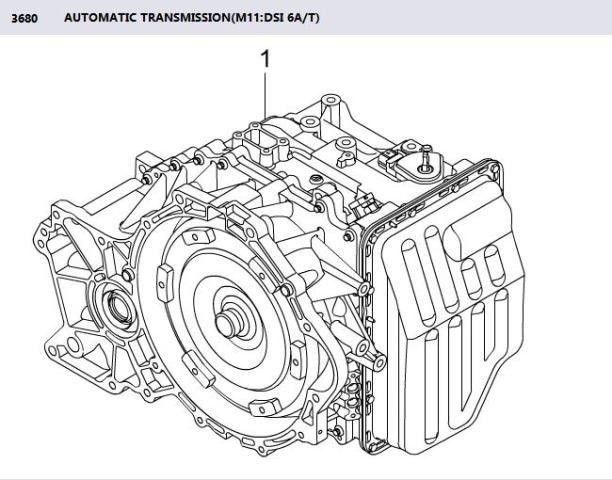AUTOMATIC TRANSMISSION M11 DSI 6A/T AWD KORANDO C ACTYON
