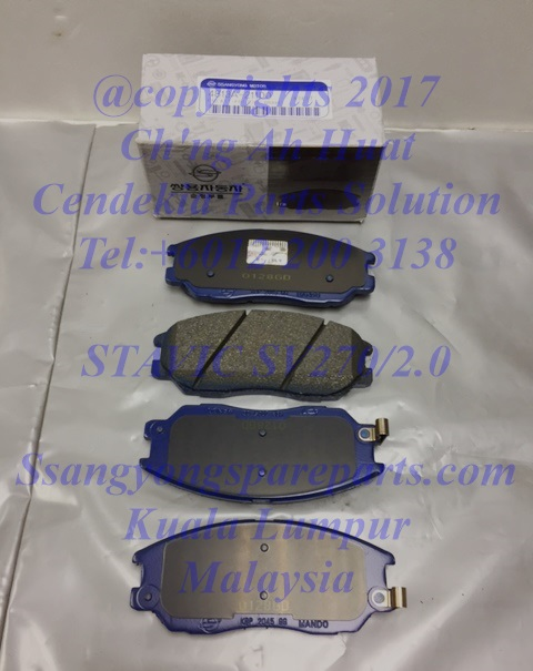 4813A21100 Brake Pad Set Frt Stavic Sv270 Sv2.0