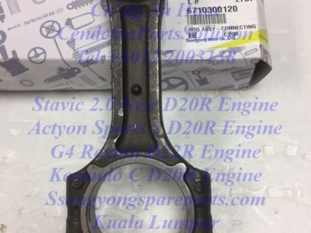 6710300120 Connecting Rod Actyon Sports 2 Stavic 2.0 New Korando C Rexton G4 ENGINE D20R D22R