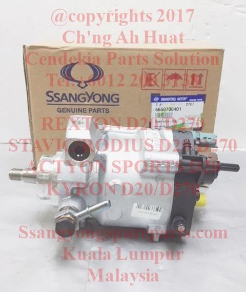 6650700201 6650700401 Pump Fuel High Pressure Rexton Stavic Rodius Kyron D20 Engine D270 Engine