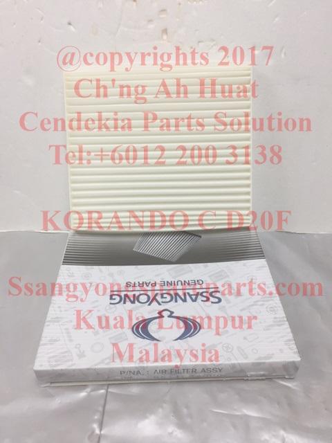 6811634000 Filter Air Assy Korando C