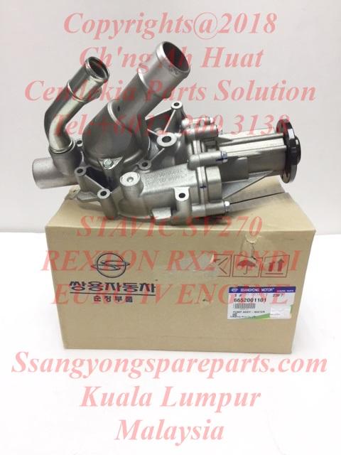 6652000901 6652001101 Water Pump Assy EURO IV Stavic SV 270 Rexton Rx270XDi